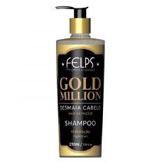 Shampoo Desmaia Cabelo Felps Gold Million 230ml