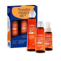 Shine Blue Kit Transformation Selagem Térmica Shampoo 150ml + Selagem Térmica 100ml + Finalizador Termoativo 50ml