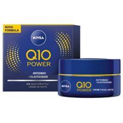Nivea Q10 Power Antissinais + Elasticidade Creme Facial Noite 50g Todos os Tipos de Pele