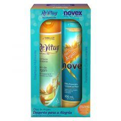Kit Shampoo e Condicionador Embelleze Novex ReVitay Oleo de Argan (02 produtos)