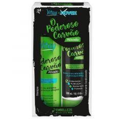 Kit Shampoo e Condicionador Embelleze Novex Vitay Poderoso Carvão (02 produtos)