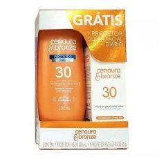 Cenoura & Bronze Kit Protetor Solar 200ml FPS 30 + Protetor Solar Facial 50g FPS 30