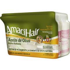 Embelleze Amaci Hair Azeite de Oliva Creme Alisante 220g Base de Guanidina