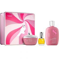 Alfapart Kit Holiday Moisture Semi di Lino Shampoo/ Máscara/ Cristal Líquido 250ml/200ml/15ml