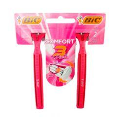 Aparelho De Depilação Bic Confort 3 Pink 2unid