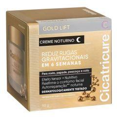 Cicatricure Gold Lift Creme Noturno Reduz Rugas Gravitacionais 50g Rosto Papada Pescoço e Colo