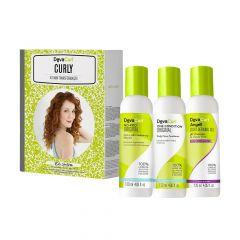Deva Curl Curly Kit Mini Transformação Shampooo/Condicionador/Gel Finalizador 3x120mL