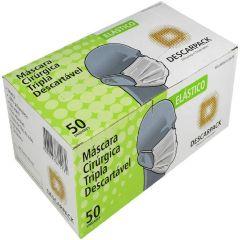 Descarpack Máscara Tripla para Proteção c/ Filtro Descartável 50un.