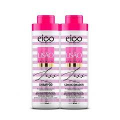Eico Kit Lisão shampoo + Condicionador 800 L