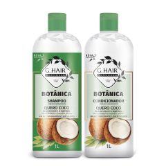 G Hair Kit Botânica Shampoo e Condicionador 2x1L Cabelos Ressecados
