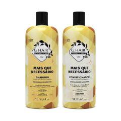 G Hair Kit Mais Que Necessário Shampoo e Condicionador 2x1L
