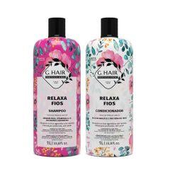 G Hair Kit Relaxa Fios Shampoo e Condicionador 2x1L
