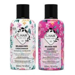 G Hair Kit Relaxa Fios Shampoo e Condicionador 2x300mL