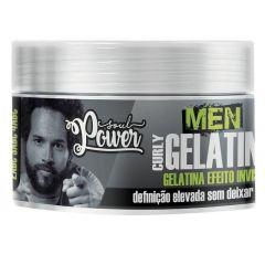 Gelatina Efeito Invisível Soul Power Men Curly Gelatine 250g