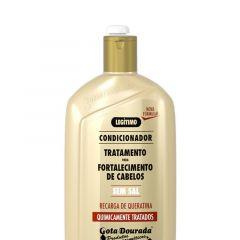 Gota dourada condicionador fortalecimento de cabelos quimicamente tratados 430ml