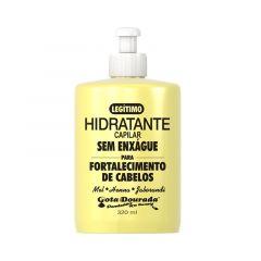 Gota dourada hidratante capilar sem enxague fortalecimento de cabelos 320ml