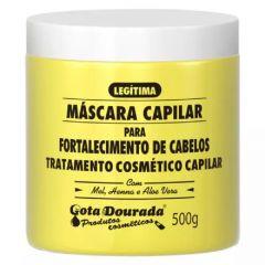 Gota dourada máscara capilar fortalecimento de cabelos 500g