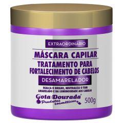 Gota dourada mascara capilar desamaelador fortalecimento de cabelos 500g