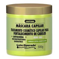 Gota dourada mascara capilar fortalecimento de cabelos antiqueda reconstrutor queratrix 500g