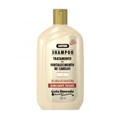 Gota dourada shampoo fortalecimento de cabelos quimicamente tratados 430ml
