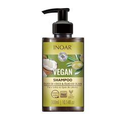 Inoar Vegan Shampoo 300mL Óleo de Coco & Óleo de Oliva