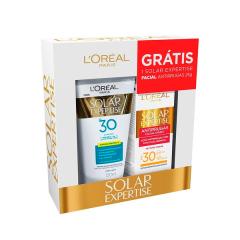 Protetor Solar Loreal Expertise FPS 30 120ml Gratis FPS 30 25g Antirruras