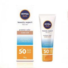 Nivea Sun Beauty Expert Facial Protetor Solar 50g FPS 50 com Cor