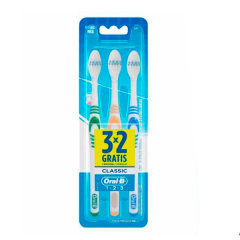 Escova Dental Oral-B Classic 3unid