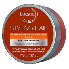 Pomada Defrizante Modeladora 6em1 Lacan Styling Hair 100g