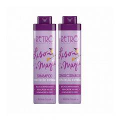Retrô Kit Liso Magia Shampoo e Condicionador 2x1L Hidratação Extrema