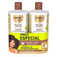 Salon Line SOS Cachos Coco Kit Shampoo + condicionador 1L