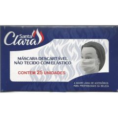 Santa Clara Máscara Descartável Não Tecido c/ Elástico 25un.