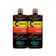 Kit Shampoo e Condicionador Eico Life Cura Fios 2X450ml