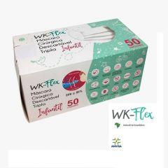 WK-Flex Máscara Cirúrgica Descartável Tripla Infantil 50un.